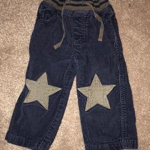 Baby Boden Star knee corduroy pants navy blue18-24